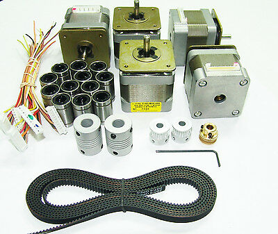 5 Nema 17 Japan Servo Stepper Motors GT2 Belt Pulleys Bearings Couplers 3D Kit
