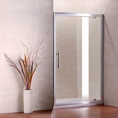 Pivot Walk in Shower Enclosure Door Glass Screen Cubicle Side Panel Stone Tray P