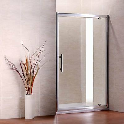 900x1850mm Pivot Shower Enclosure Walk In Cubicle Glass Screen Door P9