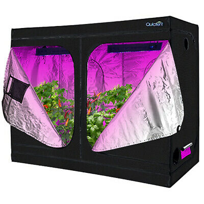 "Quictent 96""x48""x78"" Reflective Mylar Hydroponic Grow Tent with Waterproof Tray"