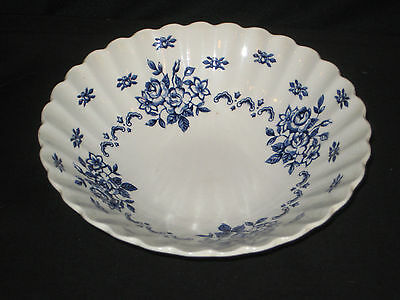 J&G Meakin CHATSWORTH Blue and White Floral Soup Cereal Bowl