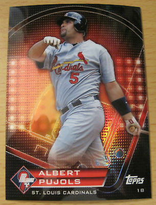 2011 TOPPS PRIME NINE REFRACTOR ALBERT PUJOLS ST. LOUIS CARDINALS L.A ANGELS