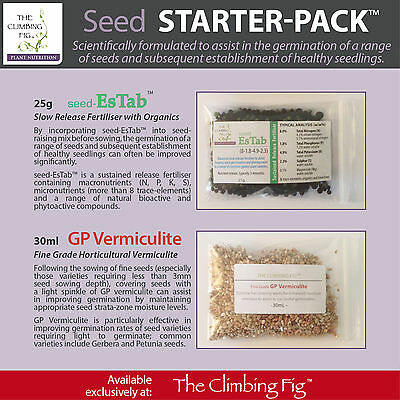 Seed Starter Pack™ (Pack A). Vermiculite & fertiliser to boost seed germination