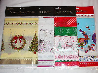 Christmas Table Cloth Plastic 10 Designs Dinner Festive Party Cute Traditional