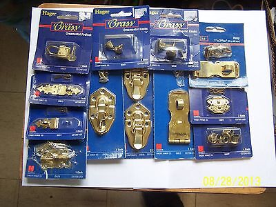 Hager Solid Brass Decorative Hardware For Small Cabinet Doors, Hobby/Crafts, Etc