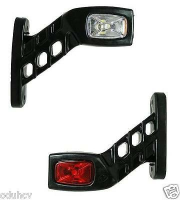 2 Recovery Side Marker Outline Led Lights Lamps 12 - 24 Volt Trailer Truck Lorry