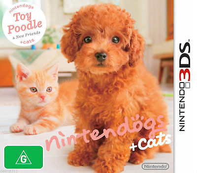 Nintendogs + Cats Toy poodle 3DS GAME *VGWC!* + Warranty!!!