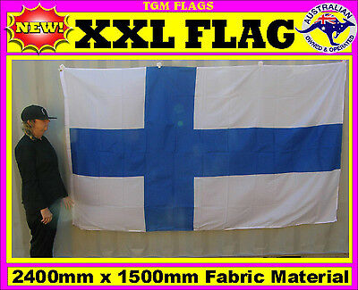 Finland flag Finnish flag for house wall pole sports event man woman cave