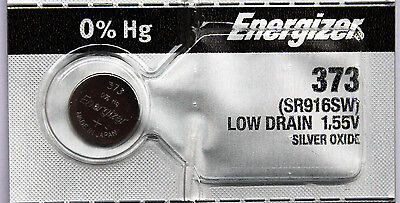 2PC  Energizer 373 Silver Oxide SR916SW - Made in Japan, Ships from Canada