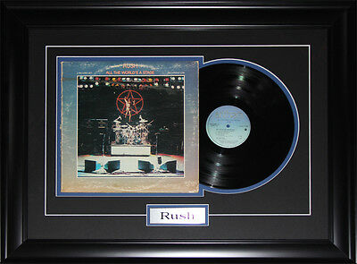 Rush music album record frame