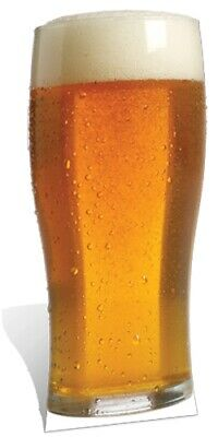Pint of Beer Lager Cardboard Cutout Fun Figure 182cm Tall - Great for Parties