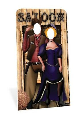 Wild West Couple Stand in Cardboard Cutout Figure 186cm Tall-Great for Photos!