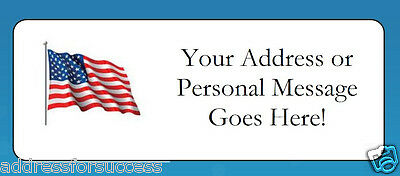 Personalized USA Flag Return Address Labels & Envelope Seals