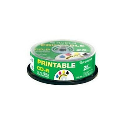 Fujifilm Cd-R Recordable Discs 25 Pack Spindle Inkjet Printable 700Mb 1.3 Hour