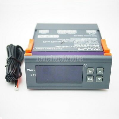 WH7016C 12V DC Digital Temperature Controller ,Electronic Thermostat with Probe