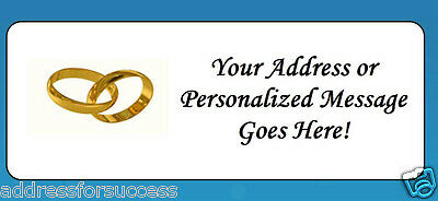 60 Personalized Wedding Rings Return Address Labels
