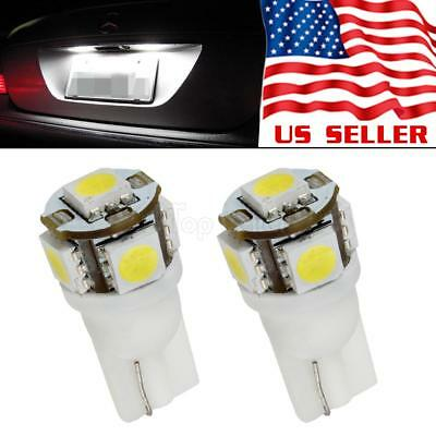 2 x 168 194 2825 921 HID White 5 SMD LED Bulbs For License Plate Lights
