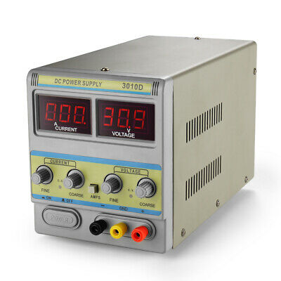 30V 10A DC Power Supply Adjustable Variable Regulated Precision Digital Display