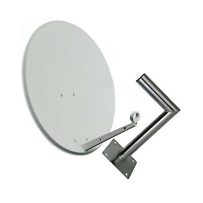 60CM Satellite Dish with Wall Mount Sky Freesat Perfect for Seaside Location