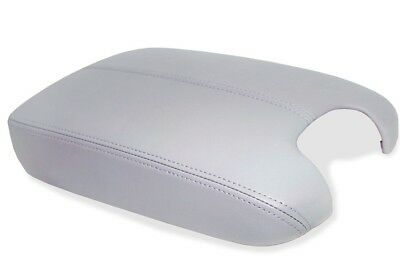 Fits 2008-2012 Honda Accord Gray Real Leather Console Lid Armrest Cover