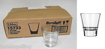 Libbey 15733 3.75 oz. Stacking SHOT GLASS  Whiskey on the Rocks Shooter CASE/12