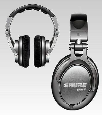 SHURE SRH940 Prof Reference Headphones for audio engineers/in-studio talent NEW!