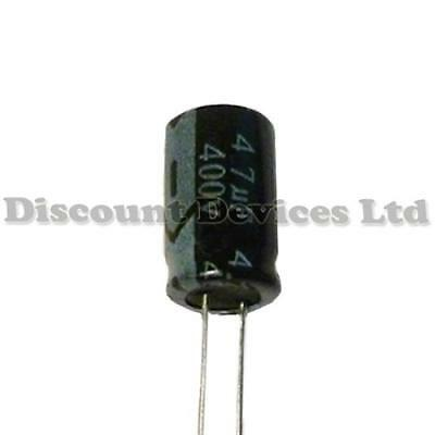 5x 4.7uF 400V Radial Electrolytic Capacitor 105C Pitch:3.5mm