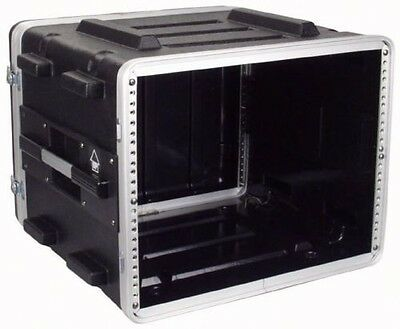 8U ABS 19 Inch Rack Flight DJ PA Equipment Transport Case Flightcase