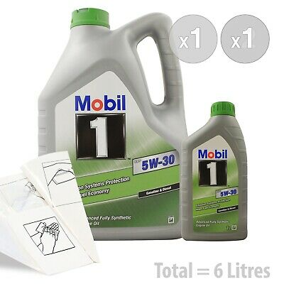 Car Engine Oil Service Kit / Pack 6 LITRES Mobil 1 ESP 5W-30 Fully Synth 6L