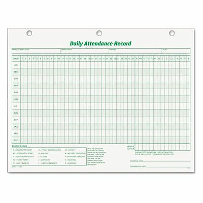 TOPS Daily Attendance Record Form - TOP3284