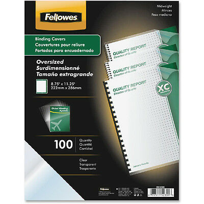 Fellowes Crystals Clear Oversized Binding Covers   - FEL52311