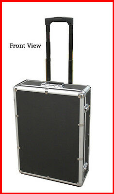1000 Mess-Free Aluminum CD DVD Storage Case Holder Box Black W Removable Trolley