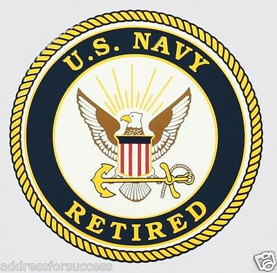 60 Personalized U.S. Navy Retired Insignia Return Address Labels