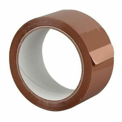 24 Rolls Brown Packing Tape - - - -  joblot packing cellotape sellotape boxes