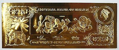$25 Poinciana-The First Gold Bank Notes of Belize w/ Presentation Card