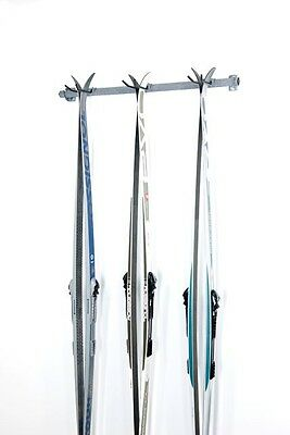 3 Cross Country Ski garage storage wall mounted rack by monkey bar storage