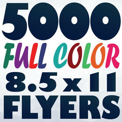 5000 8.5x11 (Letter Size) 2 Side Full Color Flyer Printing on 100Lb AQ