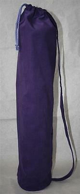 Purple  Yoga & Pilates Mat Bag with Carry Strap & Draw String