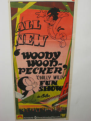 VINTAGE All New Woody Woodpecker Chilly Willy Fun Show Cinema International