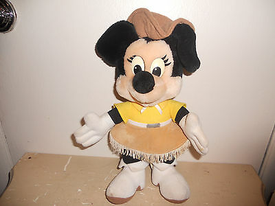 "** 13"" Vintage Disney's Disneyland Minnie Mouse Stuffed Animal Plush ** OLD"