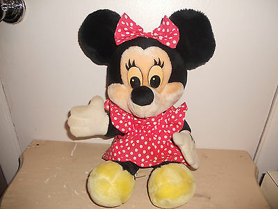 "** 16"" Vintage Disney's Disneyland Minnie Mouse Stuffed Animal Plush ** OLD"