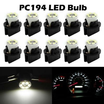 10x White Chevy PC194 Instrument Panel Cluster Led Light Bulb Dashboard Sockets
