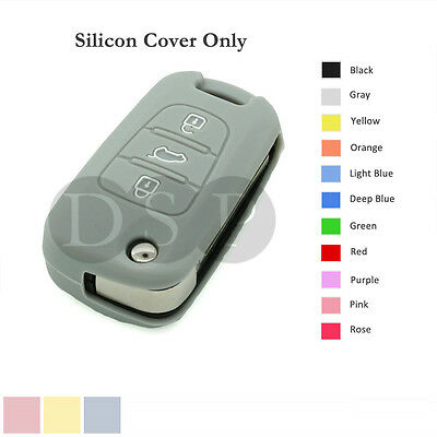 Silicone Cover Shell fit for HYUNDAI i20 i30 Flip Remote Key Case 3B 11CLR GY