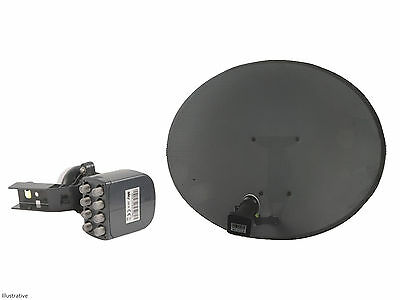 Sky / Freesat Satellite Dish with Octo LNB, use for Sky or Free TV Fast Delivery
