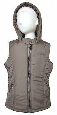 Firetrap Girls Gilet/Bodywarmer Beige Hooded/Hoodie/Hoody 100% Genuine 8Y-15Y