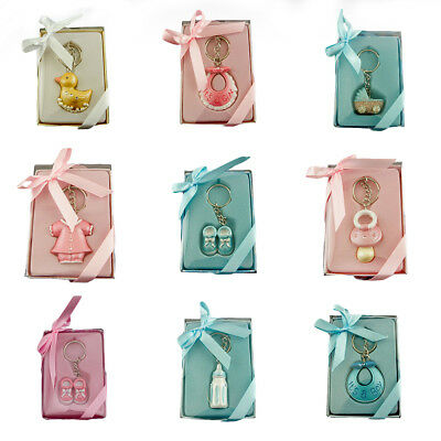 Cute Pink/Blue Baby Shower Key Chain Favor Lot of 6 Pieces Keychain Party Favors