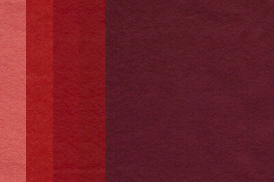 """WOOL MIX FELT SQUARES (2x REDs), approx 9"""" x 9"""", 30% WOOL 70% SYNTHETIC"""