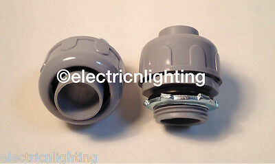 "NON-METALLIC LIQUID-TIGHT CONNECTORS  1/2""-Pack of 25 electrical fittings"