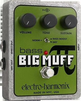 EHX Electro Harmonix Bass Big Muff Pi Distortion Sustain Pedal