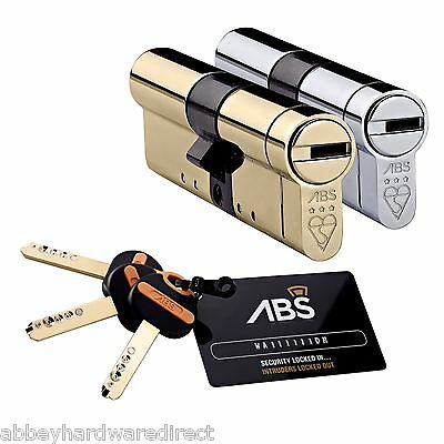 Avocet ABS 3 Star High Security Lock Euro Cylinder UPVC Anti Snap Bump Pick